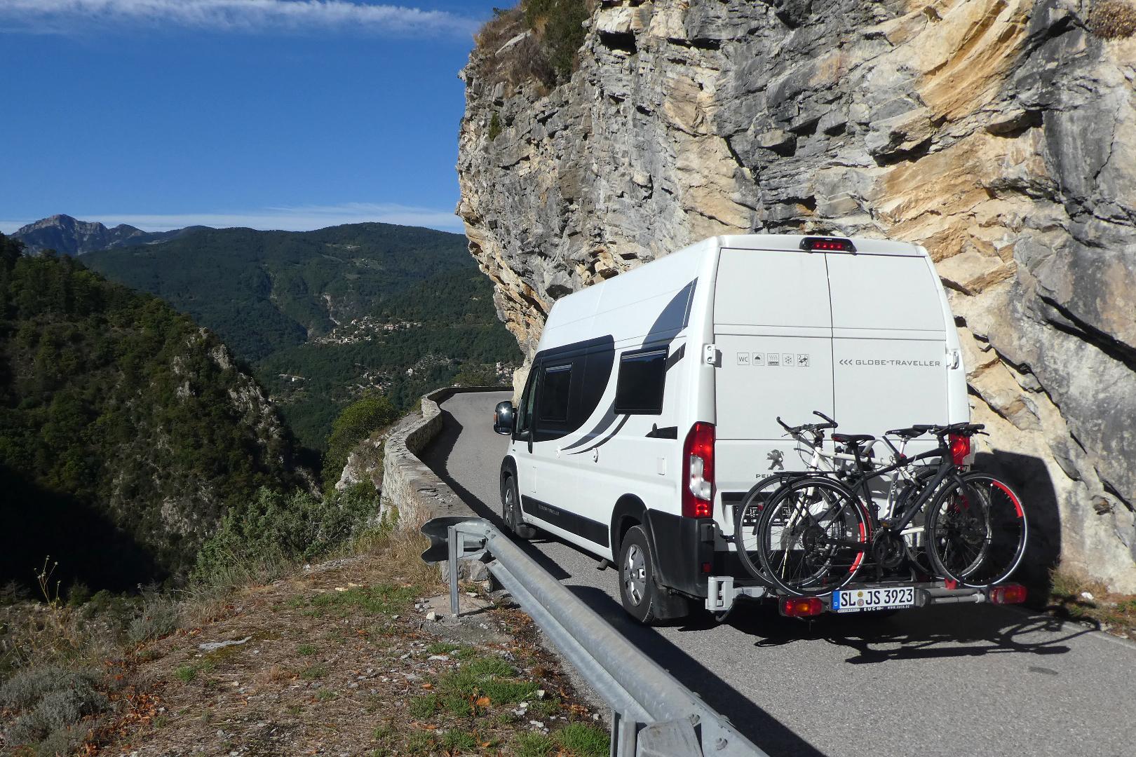 kørsel med autocamper i Nationalparken Mercantour