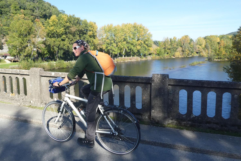 cykeltur ved floden Dordogne