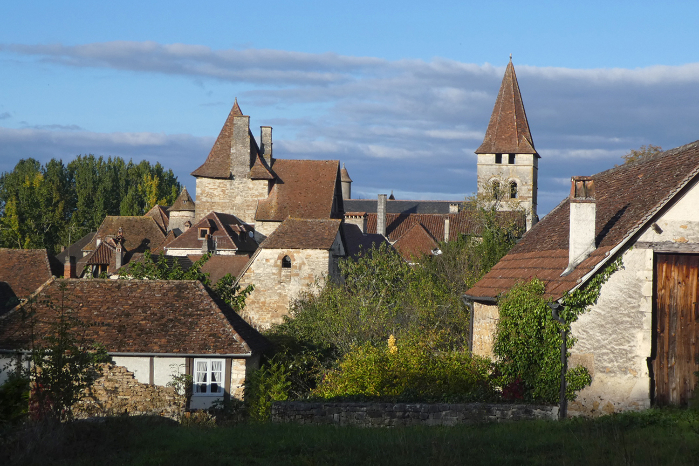 landsbyen Carennac i Dordogne