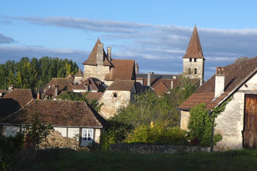 landbyen Carennac i Dordogne