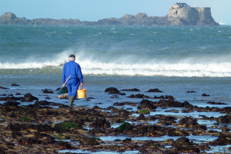 fiskeri til fods på rejser i Bretagne