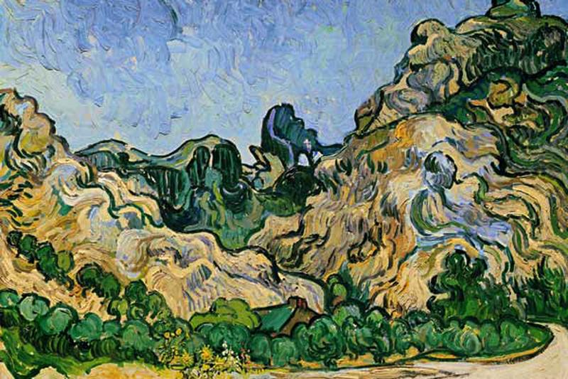 Van Goghs maleri af Les Alpilles