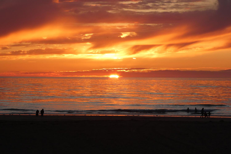 solnedgang ved Noirmoutier og l'Île-d'Yeu